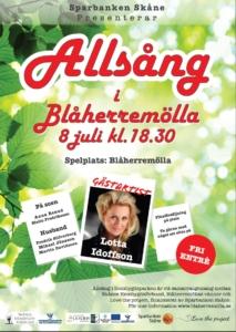 ALLSÅNG 8 JULI KL 18.30
